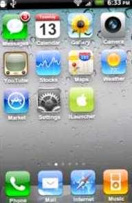 скачать ilauncher, для android, интерфейс iphone, ios
