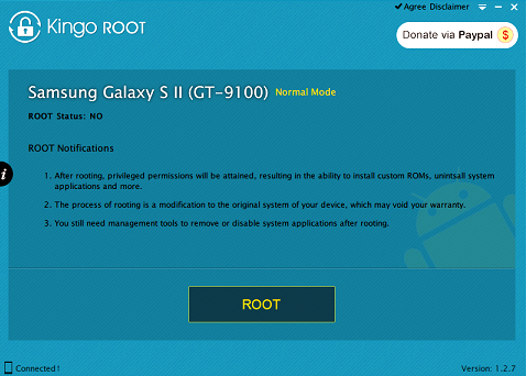 Root права DEXP Ixion ES155 Vector