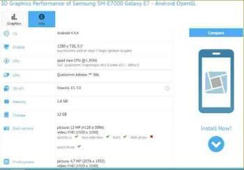 Samsung Galaxy E7 SM-E7000, обзор