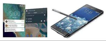 Nexus 6, Samsung Galaxy Note Edge, phablet
